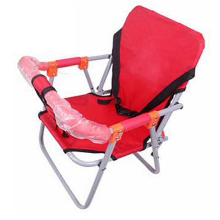 Front Folding Baby Seat for Pedal Motorcycle - Red