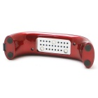 9W 100-240V LED Light Bridge Shaped Mini Curing Nail Dryer - красный