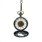 Retro Zinc Alloy Mekanisk Analog Pointer Pocket Watch - Bronse
