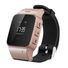 DMDG GPS Locator Watch Phone / GPS Tracker / SOS Alarme - Rose d'or