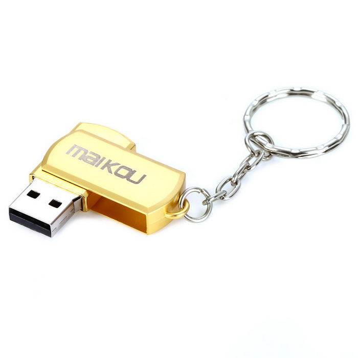maikou MK2602 mini USB 2.0 32 GB flash-enhet - gyllene