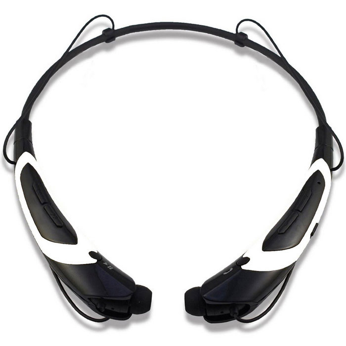 KWB HBS-760 Universal Bluetooth Neckband Headphones - Black + White