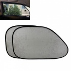 ZIQIAO Car Sun Shade Side Window Sunshade Covers - Preto (2PCS)