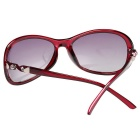ReeDoon 30127 UV400 Protection Polarized Sunglasses - Wine Red