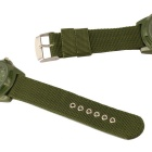 Woven Nylon Strap Outdoor Leisure Quartz Analog Watch - Army green