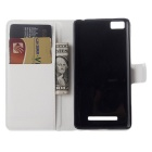PU Leather Wallet Cases w/ Card Slots for Xiaomi Mi 4C / 4i - White