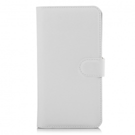PU Leather Wallet Cases w/ Card Slots for Xiaomi Redmi Note 2 - White