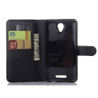 PU Leather Wallet Cases w/ Card Slots for Xiaomi Redmi Note 2 - Black
