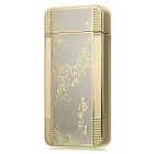 MAIKOU Tiger Pattern Dual Arch USB Rechargeable Lighter - Gold