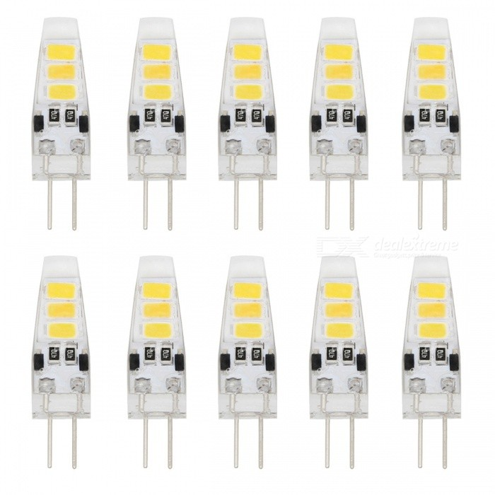 YouOKLight YK1483-W G4 1W 12V 6-LED Cold White Light Bulbs (10 PCS)