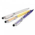SZKINSTON 3-in-1 Stylus Touch Pens w/ Ball Point - White + Yellow