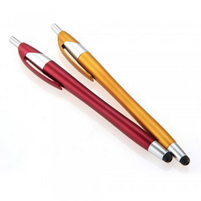 SZKINSTON 2-in-1 Capacitive Stylus Ballpoint Pen - Orange + Red
