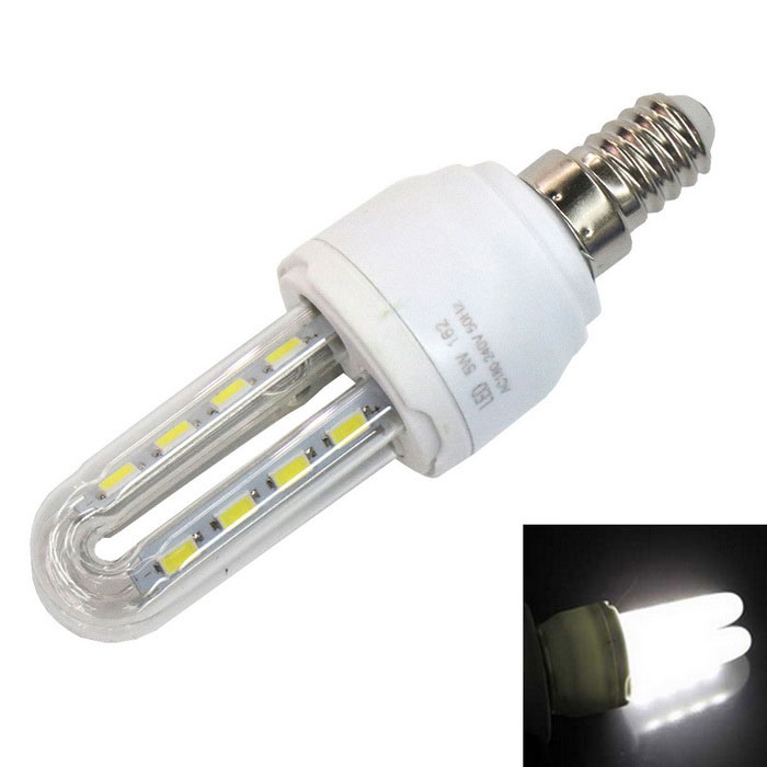 E14 5W 6000K 330lm 16-5730 SMD 2HE Energiesparlampen weißes Licht