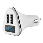 4.8A Intelligent Dual USB Car Charger w/ Voltage Monitoring Display