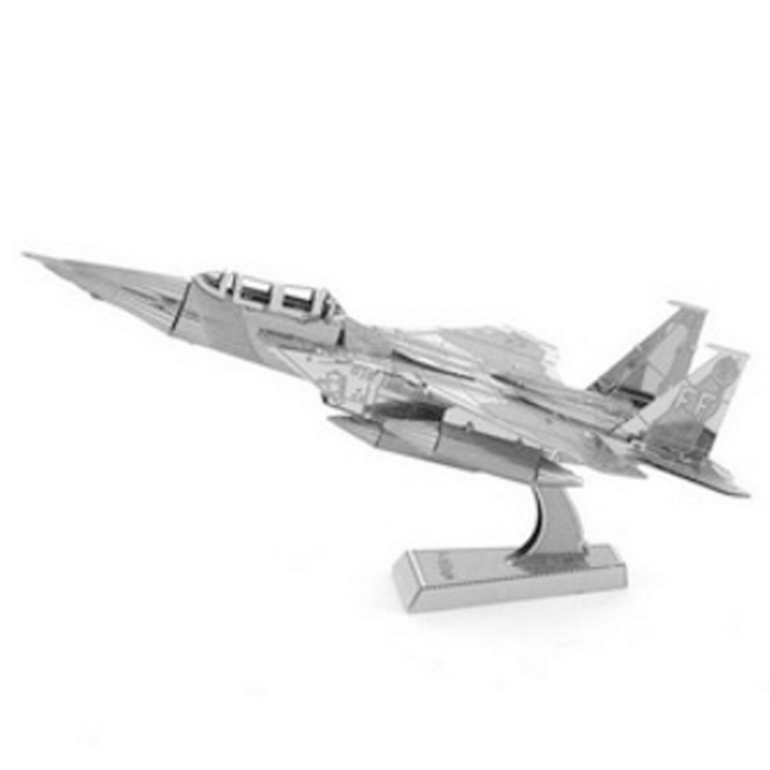 3D Stereo Puzzle IF-15 Aircraft - Silver