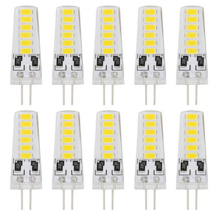 Youoklight YK1484-W G4 2W 12V 12-LED bombillas blancas frías (10 PC)