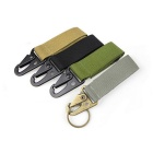 Outdoor Quick Release Fabric Belt + Aluminum Alloy Snap Hook Keychain