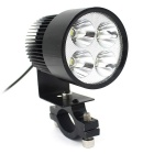 Waterproof 4-LED Cold White 6000K 1000lm Motorcycle Electrombile Headlight