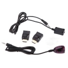 Latest IR Extender Emitter Receiver Infrared Repeater System Cable Kit