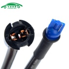 carroKING T10 soquete cablagem Sockets Connector - preto (2PCS)