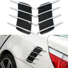 ZIQIAO Car Styling Simulation Vents Autocollants décoratifs - Noir (2PCS)
