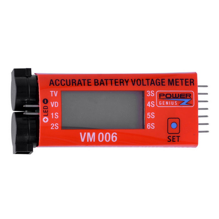 VM006 Accurate Battery Voltage Meter - Oranje