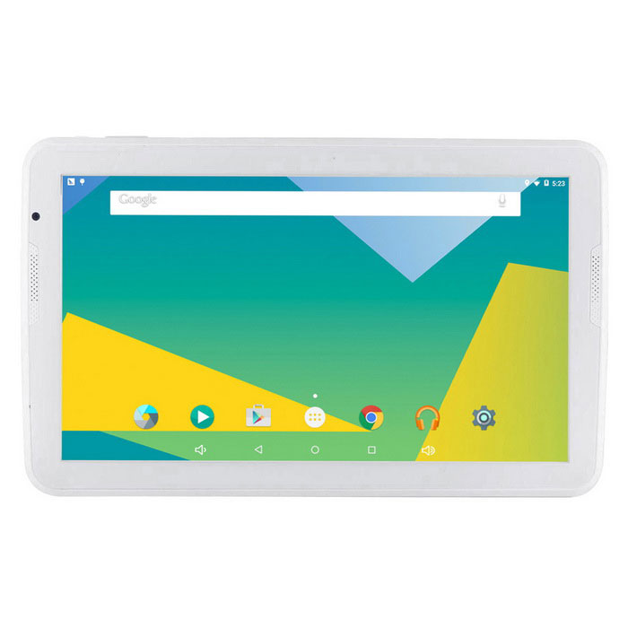 A106T 10.6 Android 5.1 Tablet PC w/ 1GB RAM, 16GB ROM - WhiteAndroid Tablets<br>Form  ColorWhiteBrandOthers,N/AModelA106TQuantity1 DX.PCM.Model.AttributeModel.UnitMaterialPlasticShade Of ColorWhiteProcessor BrandAllwinnerProcessor ModelOthers,A83TProcessor Speed1.8 DX.PCM.Model.AttributeModel.UnitNumber of CoresOcta-CoreGPUPowerVR SGX544MPRAM/Memory TypeDDR3 SDRAMBuilt-in Memory / RAM1GBCapacity / ROM16GBScreen SizeOthers,10.6Screen Size10.6 inches &amp; OverScreen TypeIPSTouch TypeCapacitive screenResolutionOthers,1366 x 768Touch Point5-point Capacitive Touch Screen3G TypeNo3G FunctionNoOperating SystemAndroid 5.1Supported NetworkWifi,Bluetooth,GPSGravity SensorYesWi-Fi StandardIEEE 802.11 b/g/nBluetooth VersionBluetooth V4.0MicrophoneYesBuilt-in SpeakersYesInterface1 x 3.5mm,1 x micro USB,1 x TFHDMINoUSB ChargeYesGoogle Play(Android Market)YesCamera type2 x CamerasFront Camera Pixels0.3 DX.PCM.Model.AttributeModel.UnitBack Camera Pixels1.9 DX.PCM.Model.AttributeModel.UnitPhotoflash LampNoStorage InterfaceTFButtonReset,Sound,PowerImagesBMP,GIF,JPEG,JPG,PNGE-bookDOC,HTML,PDF,PDB,TXTVideo FormatsRMVB,AVI,MKV,MOV,MP4,M4V,FLV,MPG,MPEG,MPEG1,MPEG2,MPEG4,WMVExternal Memory Max. Support32 DX.PCM.Model.AttributeModel.UnitMicrophone JackYesPower AdapterUS PlugTip DiameterOthers,micro usbSupported LanguagesEnglish,French,German,Italian,Spanish,Portuguese,Russian,Vietnamese,Polish,Greek,Danish,Norwegian,Dutch,Arabic,Turkey,Japanese,Bahasa Indonesia,Korean,Thai,Maltese,Hungarian,Latin,Persian,Malay,Slovak,Czech,Romanian,Swedish,Finnish,Simplified Chinese,Traditional Chinese,Bulgarian,Norwegian,HebrewBattery Capacity6000 DX.PCM.Model.AttributeModel.UnitBattery TypeLi-polymer batteryWorking Time6 DX.PCM.Model.AttributeModel.UnitStandby Time10 DX.PCM.Model.AttributeModel.UnitCharging Time4 DX.PCM.Model.AttributeModel.UnitPacking List1 * Tablet PC1 * OTG line (6.5cm)1 * Charging line (80cm)1 * US Plug charging head (Input: 100~240V AC 50/60Hz Output: 5V 2A)1 * English manual<br>