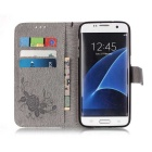 BLCR PU Leather + TPU Case for Samsung Galaxy S7 Edge - Gray