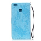 BLCR Butterfly Pattern Protective Case for Huawei P9 Lite - Sky Blue