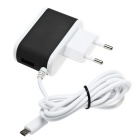 ES-D14 5V 2.4A USB Quick Charge Charger w/ Micro USB Connector - Black
