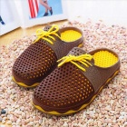 Summer Men Breathable Air-mesh Beach Sandals - Brown (Pair / Size 43)