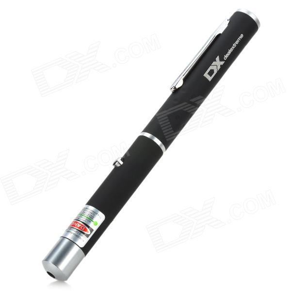 5mW 532nm Green Laser Pointer Pen with DX Logo (2*AAA)