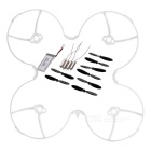 Mini Quadcopter Accessories Kit for Hubsan H107P - Black + White