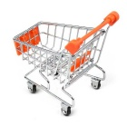 Home Furnishing Decorate Mini Shopping Cart Office Storage - Orange