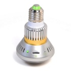 Wireless Bulb-Shaped DVR Security Camera w/ Back-up Battery - Silver