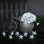 4.8W Cold White Light 80-LED Flower Starry Light Strip (33ft/ AC110V)