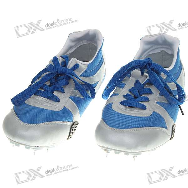Outdoor Sports Running Spiked Shoes - Size 38 (Silver + Blue)