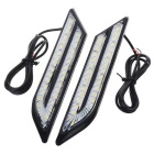exLED Universal 24W DC 12V Daytime Running Lights for Car (Pair)