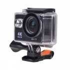 Waterproof Wide Angle 4K Sports Camera w/ Remote Controller - Black
