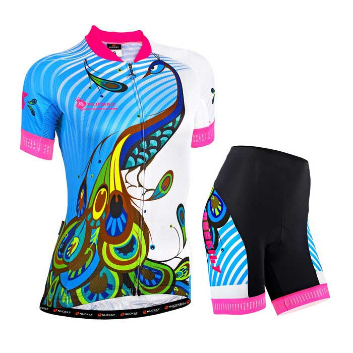 NUCKILY High Quality Girl's Cycling Jersey + Short Pants - Camouflage