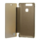 Mirror Cover Protective Flip Case for Huawei P9 - Gold