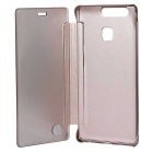Mirror Cover Protective Flip Case for Huawei P9 - Pink