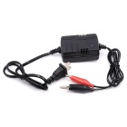 CS-067A1 12V Motorcycle Storage Battery Charger - Black