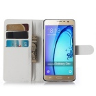 PU Magnetic Flip-Open Wallet Case for Samsung Z3 - White