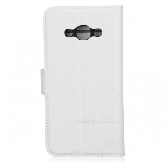PU Magnetic Flip-Open Wallet Case w/ Strap for Samsung Galaxy J3 proLeather Cases<br>Form  ColorWhiteModel001MaterialPUQuantity1 DX.PCM.Model.AttributeModel.UnitShade Of ColorWhiteCompatible ModelsSamsung Galaxy   J3 proFeaturesAnti-slip,Shock-proof,Easy-to-remove,Holder functionPacking List1*Case<br>
