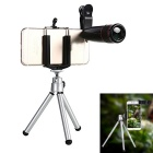 Universal Stainless Steel 12X Zoom Telephoto Lens w/ Tripod Mount