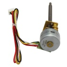 15BY Micro Stepping Gear Motor - Yellow + Silver