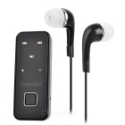 Cwxuan Collar Clip-on In-ear Stereo Bluetooth Earphone - Black