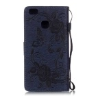 BLCR Butterfly Pattern Protective Case for Huawei P9 Lite - Dark Blue