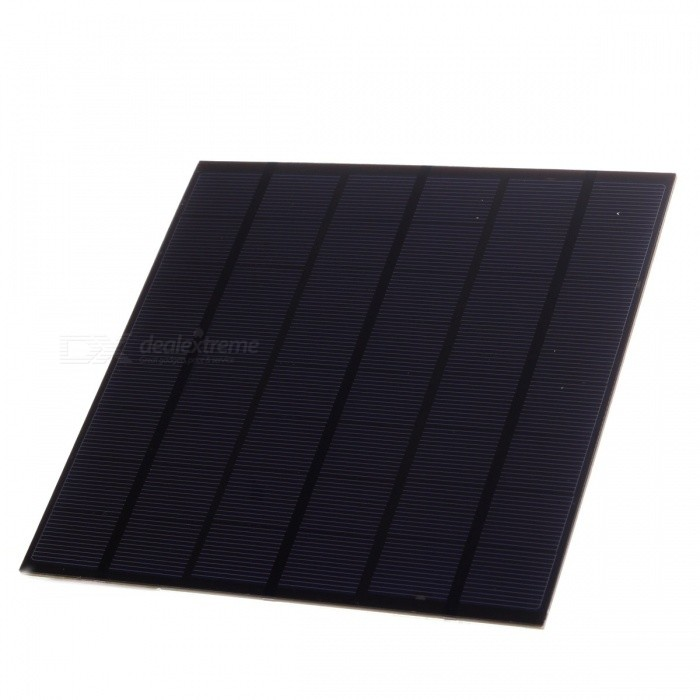 4.5W 12V Output Polycrystalline Silicon Solar Panel - Black